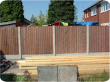 5ft feather edge wooden fence panels.