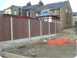 Arch top feather edge heavy duty fence panels.