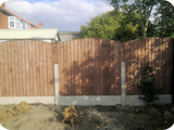 5ft vertical wooden close board panels to replace low 3ft panels with 2ft extenders.