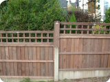 3ft vertical lap panels and 1ft trellis panels in 2ft concrete fence posts with 2ft fence post extenders.