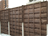 6ft panels in 3ft posts with 3ft fence extensions.