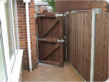 3ft wide wooden gate - close board type.