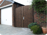 Single timber garden gate with bespoke timber tongue and groove panel to secure a rear garden in Westhaughton.