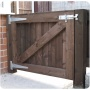 Wooden gate in Bolton on a yard.