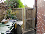 Tongue and groove garden gate with bespoke tongue and groove matching fence panel.