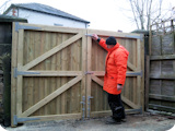Tongue and groove double yard gates, extra strong for security.