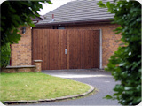 10ft wide double wooden driveway gates Bury.